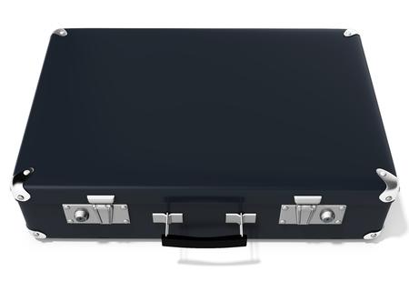 black briefcase: 3d black briefcase on white background 3D illustration