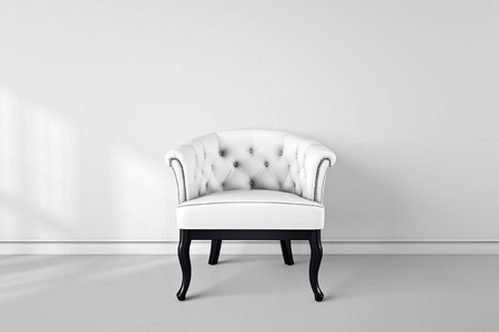 Vintage arm chair interior render 3D illustration Stock Photo