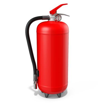 foam safe: blank red fire extinguisher on white background 3D illustration