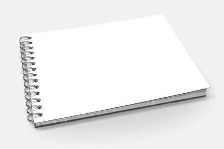 Spiral binder, blank notebook mock up on white background 3d illustration Banque d'images
