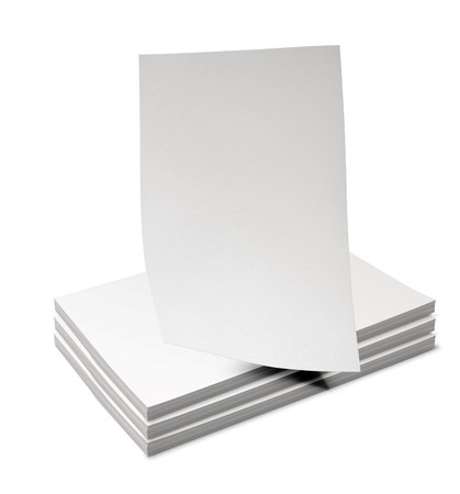 3d paper sheets stack on white background 3d illustration Archivio Fotografico - 111866228