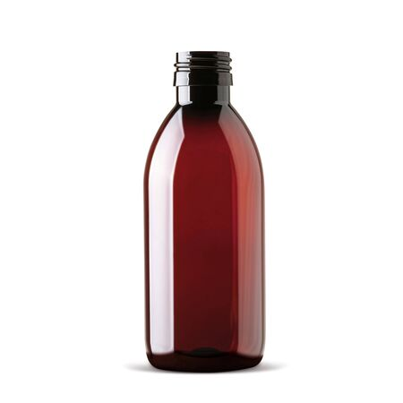 Realistic bottle without cap. Mock up bottle  on white background 3d illustration 写真素材