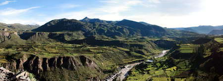 andes mountain: colca canion valley, peru, arequipa