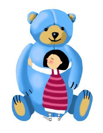 Bear girl1 Stockfoto - 2863077