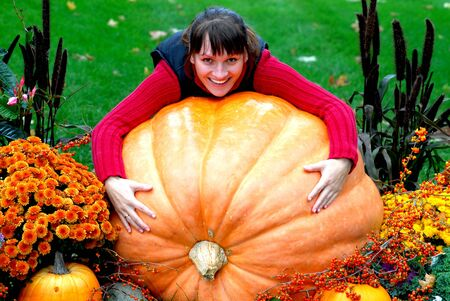 huge: pumpkin Stock Photo