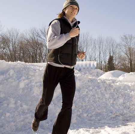 winter woman: jogger2