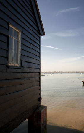 pile dwelling: Port Chichester Stock Photo