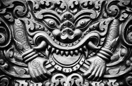 khmer: Seamless Relief Sculpture in an Oriental Temple
