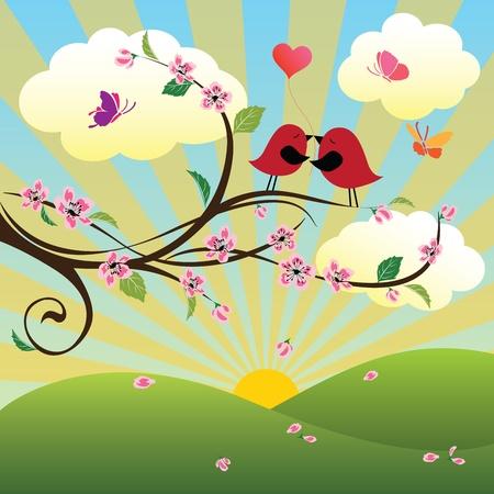 Spring   Four Seasons Series Ilustracja