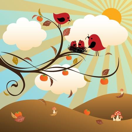 Autumn   Four Seasons Series Ilustracja