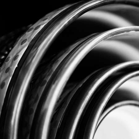 Black and White Abstract  Ceramic Bowls