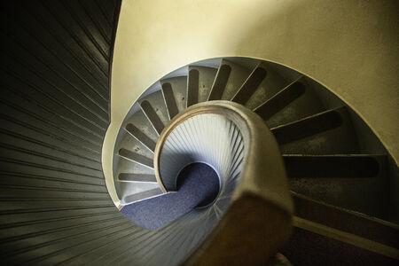 옛날 나선형 계단 스톡 콘텐츠