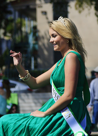 San Diego, CA, USA – March 16, 2013  Miss Colleen at St  Patrick s Day Parade and Festival on March 16, 2013 San Diego, CA  This event has become one of the largest single-day events in San Diego
