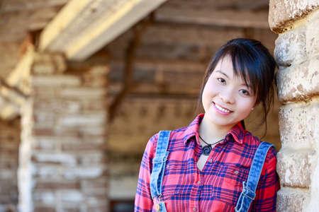 아시아 소녀 초상화