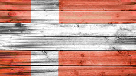 a wonderful world: Natural wood planks texture background with the colors of the flag of Denmark