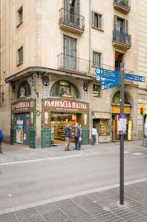 modernist: Modernist pharmacy in La Rambla street, Barcelona