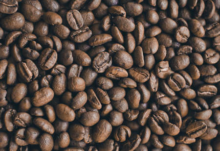 big brown coffee beans on the table