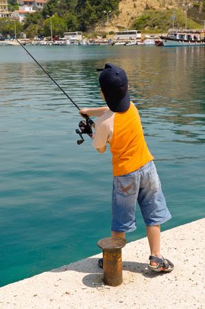 Young fisherman photo