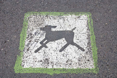 sanction: Sanction sign to walk with dogs on parks road