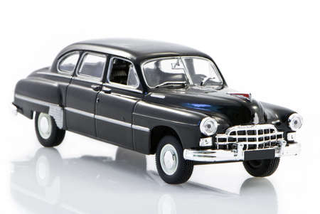 russian car: Toy model of the beautiful ancient Russian car
