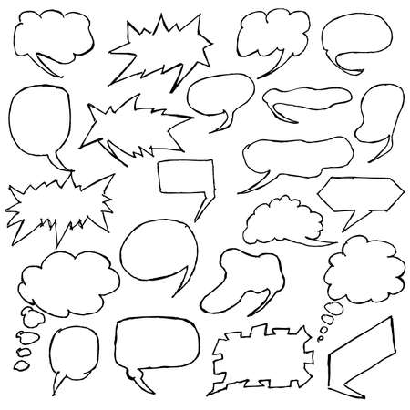 A useful collection of hand-drawn word bubbles and thought bubbles. For more thought bubbles please visit my portfolio. Vector