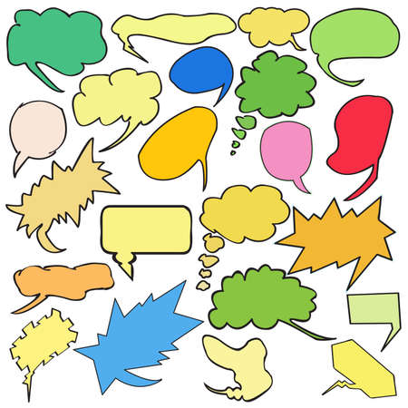 A useful collection of colored word bubbles and thought bubbles. For more thought bubbles please visit my portfolio. Vector