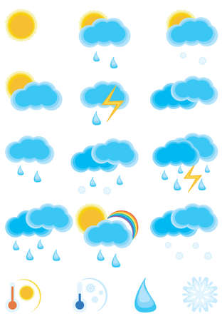 Collection of the weather day icon. Please visit my portfolio to see weather night icon. Vector