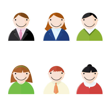 A collection of icons representing vaus business people Stock Vector - 5648528