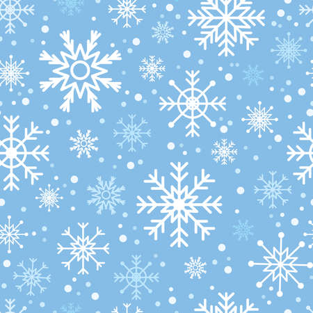 Art illustration of snowfall. Seamless vector wallpaper Vector