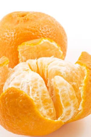 pith: Two ripe beautiful orange tangerines