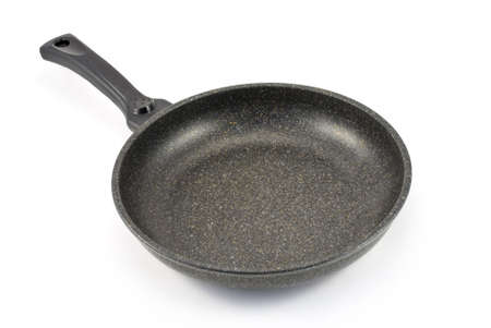 Frying pan isolated on white background photo