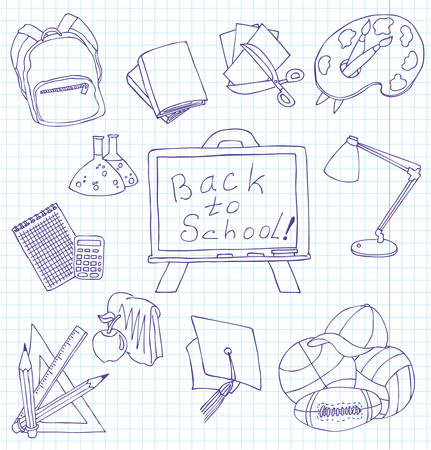 Hand-drawn fun doodles on the education theme Vector