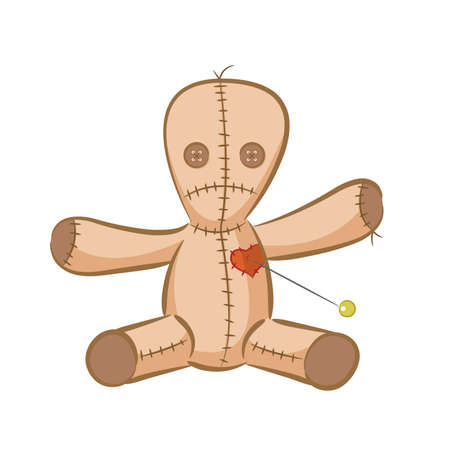 çuval bezi: A illustration of a voodoo doll.  Çizim