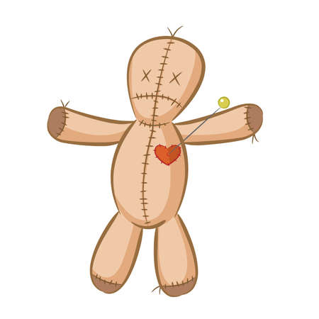A illustration of a voodoo doll.  Vector