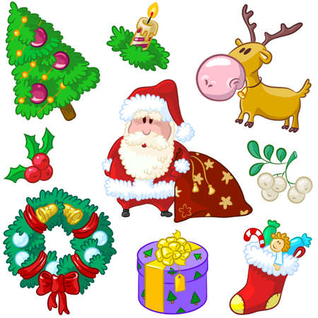 Christmas cute elements in a hand-drawn style. Stock Vector - 7653647