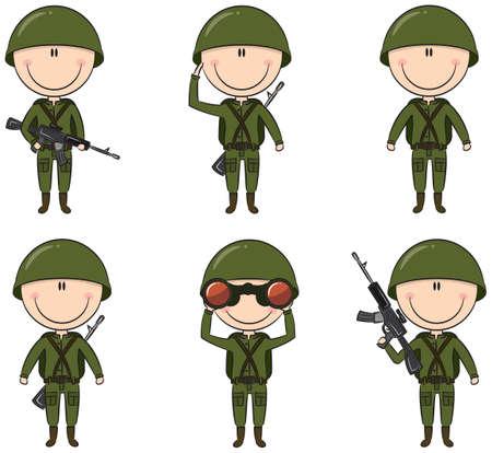 caucasians: Raccolta di soldati in diverse pose