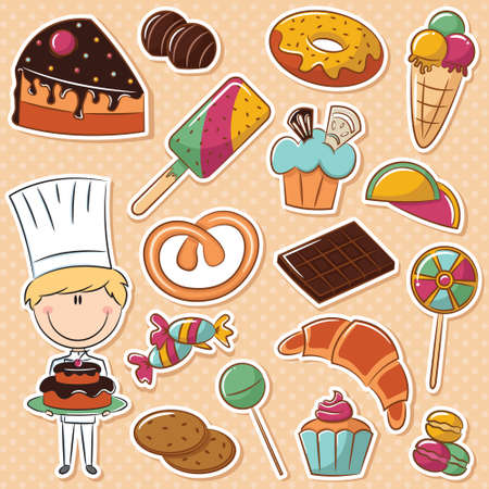 confectioner: Cute confectioner with different sweets