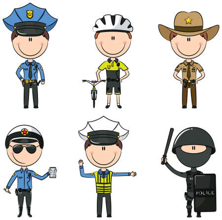 patrolman: Collection of police department employees Illustration