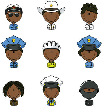 sergeant: Collection of police department employees avatars