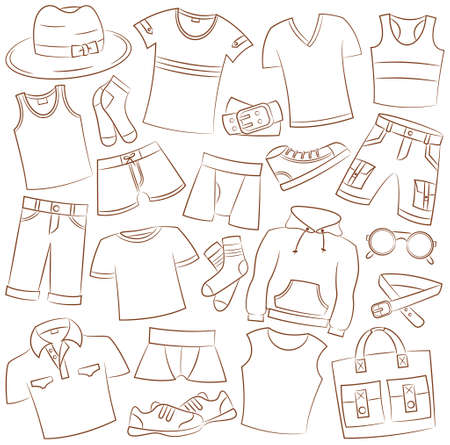 boxer shorts: Collection of summer menwear and accessories