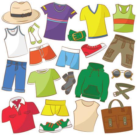 Raccolta di menwear dell'estate e accessori