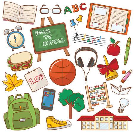 Collection d'icônes de l'enseignement scolaire Banque d'images - 30897672