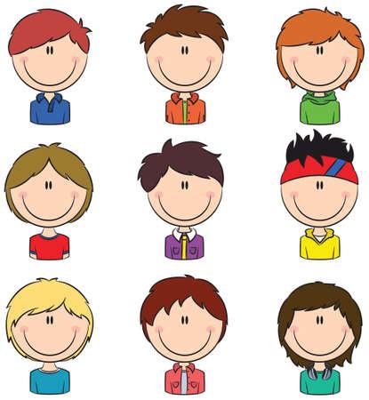 Boys avatar useful for Social network  Vector
