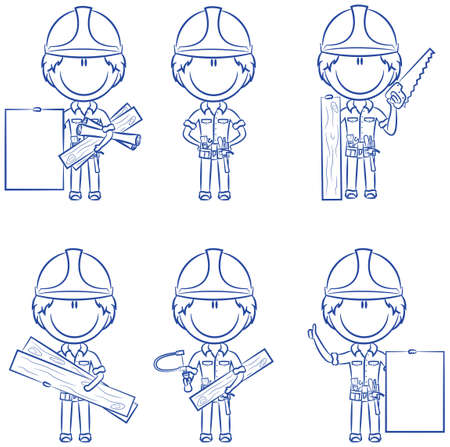 expertise: Collection of cute and smart carpenters
