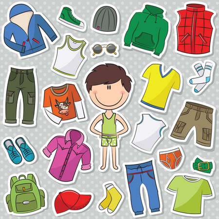 A collection of casual clothes for boys