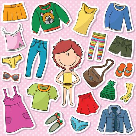 Een verzameling van casual kleding voor meisjes