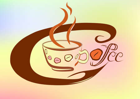 expresso: Coffee refreshing drink of any nation in the world  Illustration