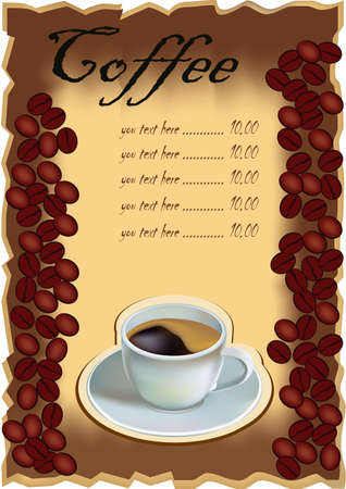 coffee  menu   Illustration