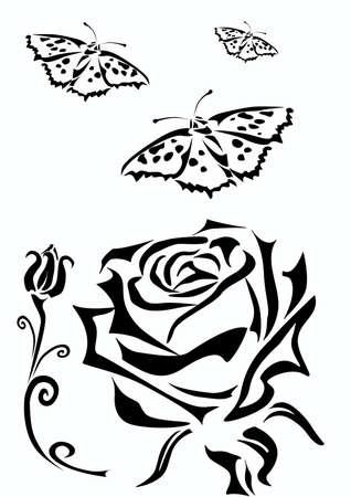 love rose: Rose Tattoo Icons