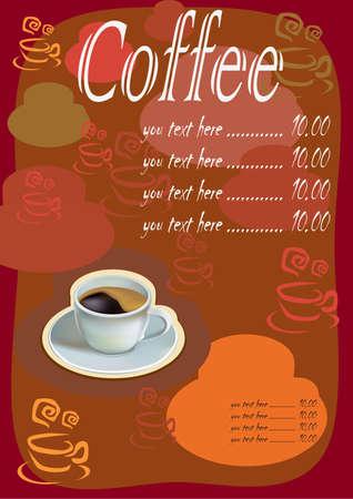 sidewalk cafe: Coffee  menu